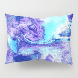 Swirling Marble in Aqua, Purple & Royal Blue Pillow Sham