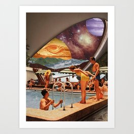 Galaxy resort Art Print