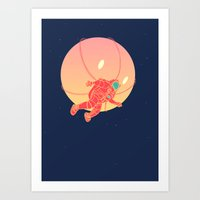 astronaut Art Prints featuring Astronaut by chyworks