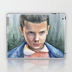 Stranger Things Eleven Watercolor Portrait Art Laptop & iPad Skin