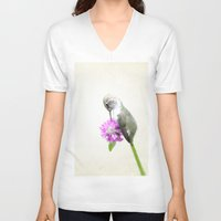 hummingbird V-neck T-shirts featuring Hummingbird  by Pure Nature Photos
