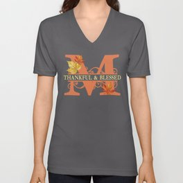 Thanksgiving M Monogram Unisex V-Neck