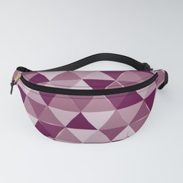 Purple Triangles Fanny Pack