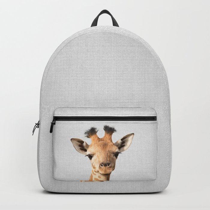 Baby Giraffe - Colorful Backpack