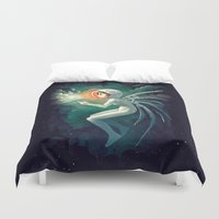 contact Duvet Covers featuring Contact by Freeminds