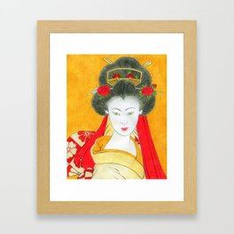 Traditional Stylised Japanese Lady Framed Art Print