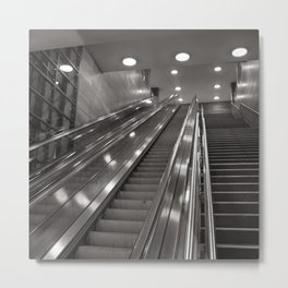 Underground station - stairs - Brandenburg Gate - Berlin Metal Print