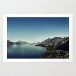 On my way to Glenorchy (Things happened to me) Art Print