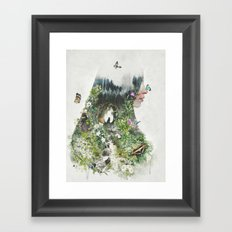 Cat in the Garden of Your Mind Framed Art Print