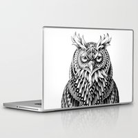 bioworkz Laptop & iPad Skins featuring Great Horned Owl by BIOWORKZ