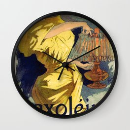 Saxol Ine P Trole De Suret 1895 By Jules Cheret   Reproduction Art Nouveau Wall Clock