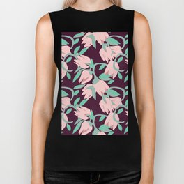 these flowers for you Biker Tank