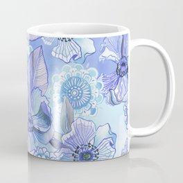 Lil' Garden Party in Blue Coffee Mug