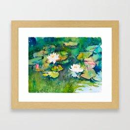 Waterlily Pond I Framed Art Print