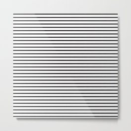 Basic Horizontal Stripes Metal Print