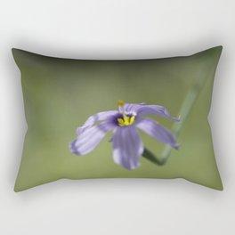 Blue-Eyed Grass Rectangular Pillow