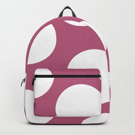 White Polka Dots on Pink Backgroung Backpack