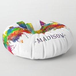 Madison Wisconsin Skyline Floor Pillow