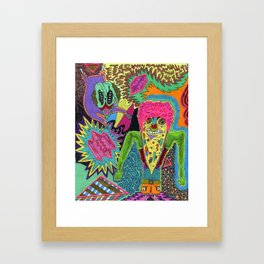 Pizza Brainz Framed Art Print