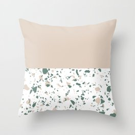 Blush Terrazzo Dreams Throw Pillow