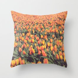 Tulips field #1 Throw Pillow