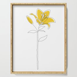 Mustard Lily Serving Tray