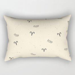 Aries Pattern - Beige Rectangular Pillow