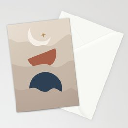 Moon Phase Boats Stationery Cards