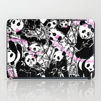 pandas iPad Cases featuring Pandas by beach please
