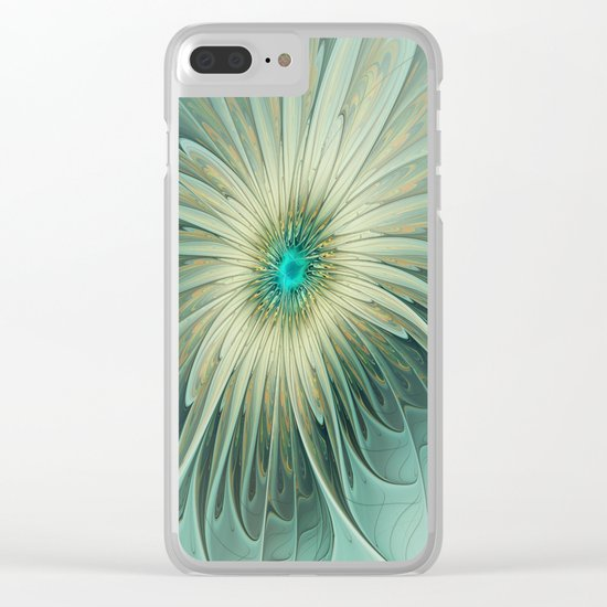 Emotions of a Flower, Abstract Fractal Art Clear iPhone Case