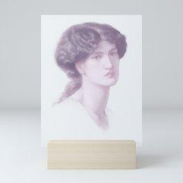 Dante Gabriel Rossetti (1828-1882) Portrait of Jane Morris, bust-length -  infrared version Mini Art Print