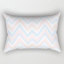 Pail colors chevron pattern Rectangular Pillow