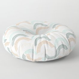 Rainbow #neutral Floor Pillow