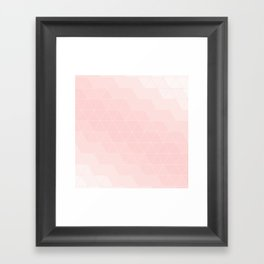 Pink Coral Triangles Framed Art Print