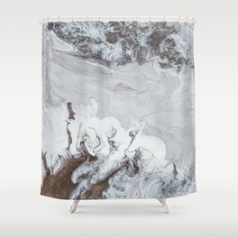 Winter Copper Shower Curtain