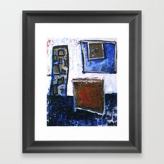b o x i n g b l u e 1 Framed Art Print