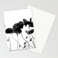 Poppy (black and white) Stationery Cards