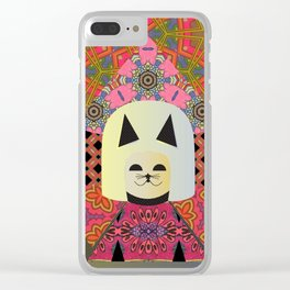 Mizz Kitty, the Vixen of Mixin' Clear iPhone Case