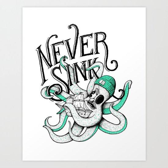 Never Sink Art Print