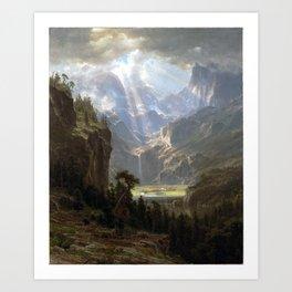 Albert Bierstadt Rocky Mountains, Lander's Peak Art Print