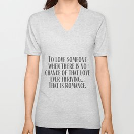 That is Romance Unisex V-Neck
