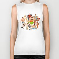 street fighter Biker Tanks featuring Street Fighter by Peerro
