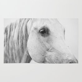 Horse Photography | Wildlife Art | Farm animal | Horse Eye Closeup | Animal Photography Rug