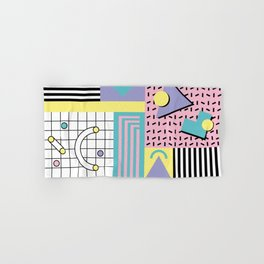 Memphis Pattern 27 - 80s - 90s Retro / 1st year anniversary design Hand & Bath Towel