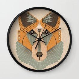 Geometric Fox Design Wall Clock