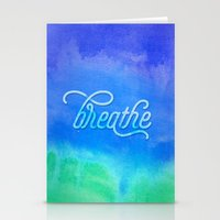 breathe Stationery Cards featuring Breathe by Noonday Design