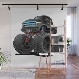 Monster Pickup Truck Cartoon Wall Mural
