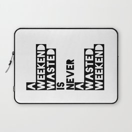 A Weekend Water (Black) Laptop Sleeve