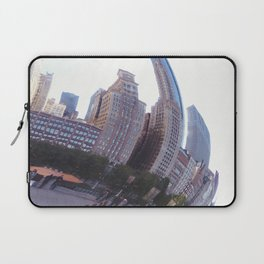 Reflecting, Chicago City in Cloud Gate Laptop Sleeve