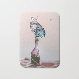 Red and Blue Water drop collision Bath Mat